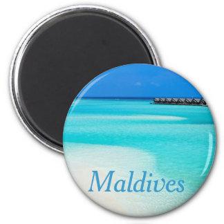 Tropischer Strand bei Malediven Runder Magnet 5,1 Cm