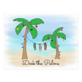 Tropischer Strand-hawaiische Weihnachtsplattform Postkarte