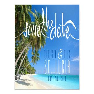 Tropischer Strand-Hochzeits-Save the Date Magnet