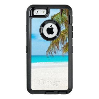 Tropischer Strand mit Palmen OtterBox iPhone 6/6s Hülle