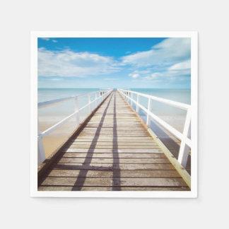 Tropischer Strand-Pier Papierserviette
