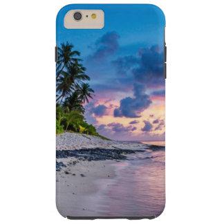 Tropischer Strand-romantischer Sonnenaufgang Tough iPhone 6 Plus Hülle