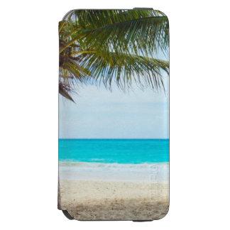 Tropischer Strand-Türkis-Wasser-Weiß-Sand Incipio Watson™ iPhone 6 Geldbörsen Hülle