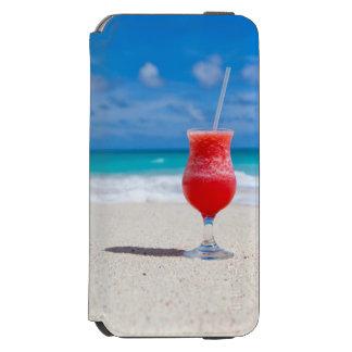 Tropischer StrandDaiquiri und Türkis-Wasser Incipio Watson™ iPhone 6 Geldbörsen Hülle