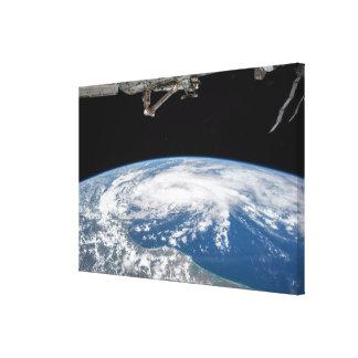 Tropischer Sturm Bill vom Int. Raumstation Leinwanddruck