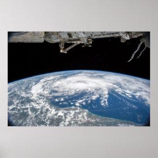 Tropischer Sturm Bill vom Int. Raumstation Poster