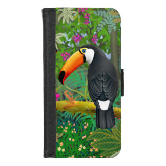 Tropischer Toco Toucan iPhone Geldbörsen-Kasten iPhone 8/7 Geldbeutel-Hülle