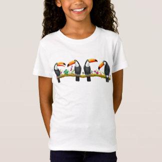Tropischer Toucan Vogel-Kinderjersey-Strick-T - T-Shirt