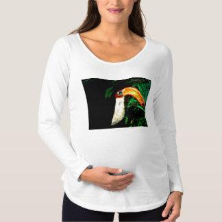 Tropischer Tucan ursprünglicher Kunst-Entwurf Schwangerschafts T-Shirt