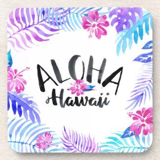 Tropischer | Untersetzer Watercolor-Aloha Hawaiis