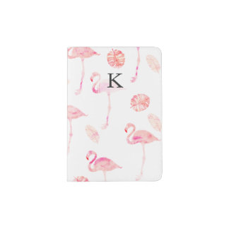 Tropisches Blatt des modischen rosa Passhülle
