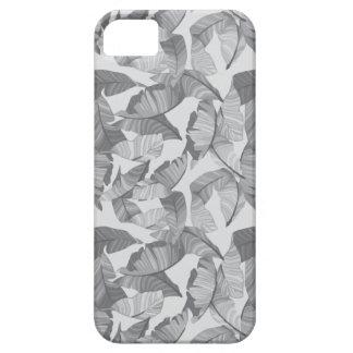 Tropisches Blatt-grauer moderner Telefon-Kasten Hülle Fürs iPhone 5