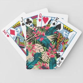 Tropisches Blätter-Muster Bicycle Spielkarten