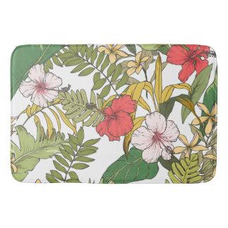 Tropisches Blumen Badematte