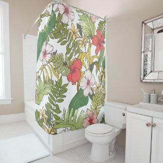 Tropisches Blumen Duschvorhang