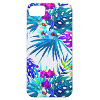 Tropisches Blumenmuster deluxe iPhone 5 Schutzhüllen