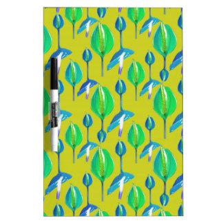 Tropisches Blumenmuster Trockenlöschtafel