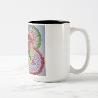 Tropisches Fest Zweifarbige Tasse