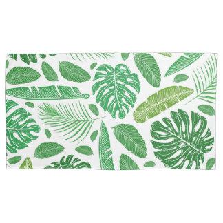 Tropisches grünes Blatmuster Kissenbezug
