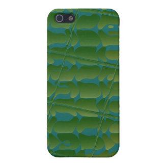 Tropisches inspiriertes grünes und blaues Pern Hülle Fürs iPhone 5