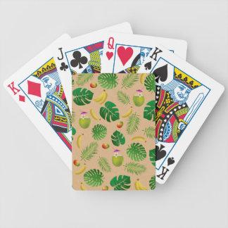 Tropisches Muster Bicycle Spielkarten