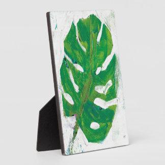Tropisches | Palmblatt Fotoplatte