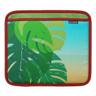 Tropisches Palmblatt-Sandy-Ufer Sleeves Für iPads