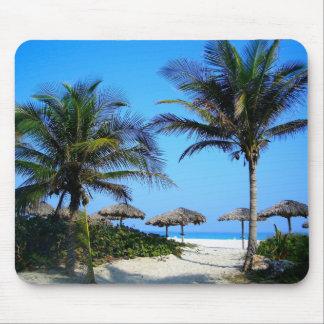 Tropisches Palme-Ozean-Strand-Paradies Mousepad