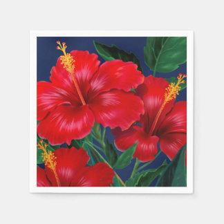 Tropisches Paradies-hawaiischer Hibiskus mit Serviette