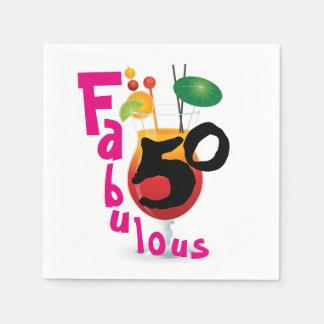 Tropisches Party des Geburtstags-fabelhafte 50 Papierserviette