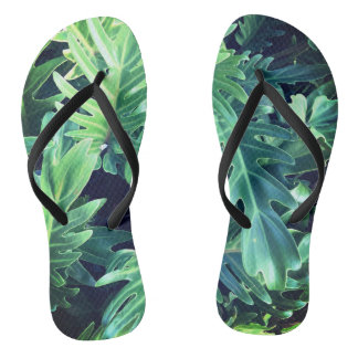 Tropisches Regenwald-Blätter Flip Flops