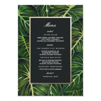 Tropisches Romance/Menü Karte