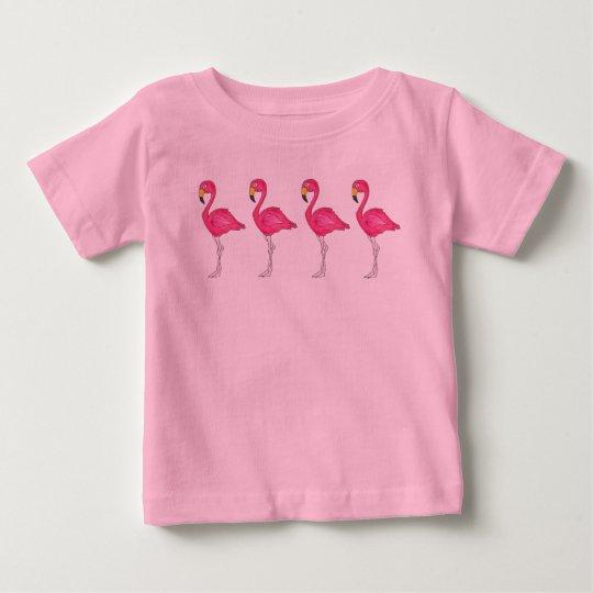 Tropisches rosa baby t-shirt