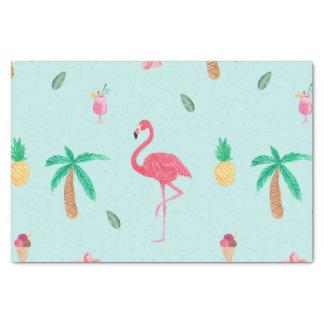 Tropisches Sommer-Türkis-Muster Seidenpapier