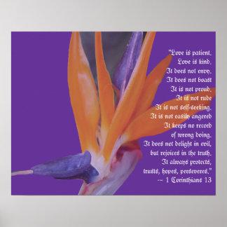 Tropisches Strand-Hochzeits-Geschenk-Plakat Poster