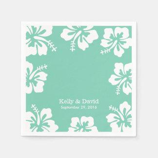 Tropisches tadelloses grünes serviette