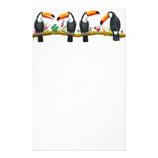 Tropisches Toco Toucan Vogel-Briefpapier Briefpapier