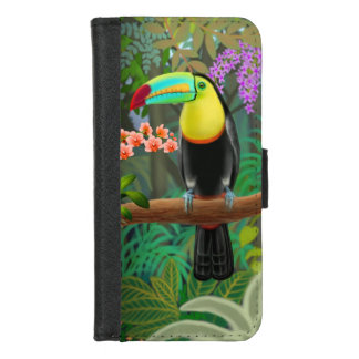 Tropisches Toucan in Dschungel iPhone 8/7 iPhone 8/7 Geldbeutel-Hülle