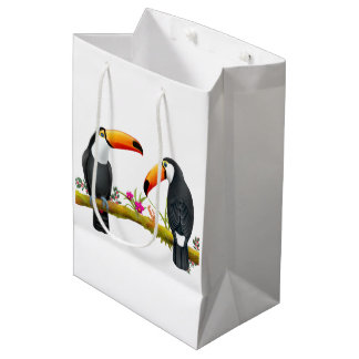 Tropisches Toucan Vogel-Geschenk-Taschen-Medium Mittlere Geschenktüte