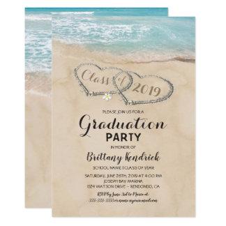 Tropisches Vintages Strand-Abschluss-Party Karte