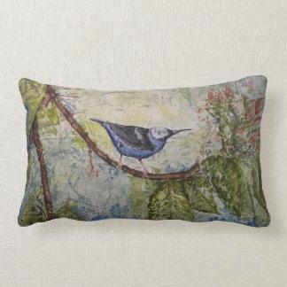 Tropisches Vogel-Aquarell-Kunstlumbar-Kissen Lendenkissen