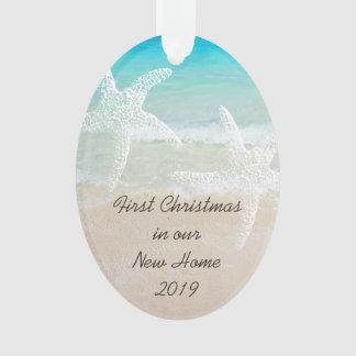 Tropisches Weihnachtsneues Zuhause-Küstenthema Ornament