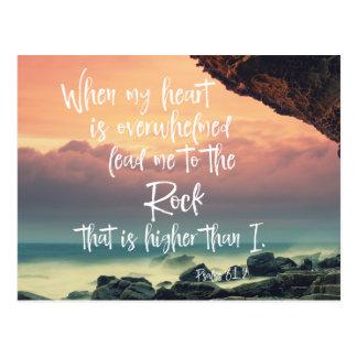 Trost des Psalm-Bibel-Verses Postkarte