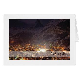Troth-Weihnachten-Karte:: Gebirgslichter Karte
