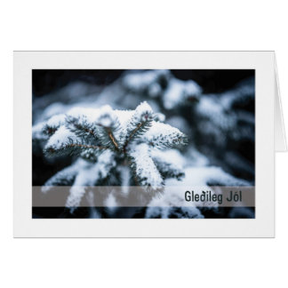 Troth-Weihnachten-Karte:: Weihnachten-Baum (EIS) Karte