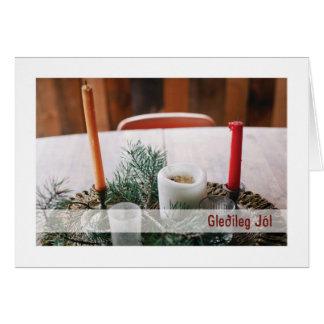 Troth-Weihnachten-Karte:: Weihnachten-Kerzen Karte