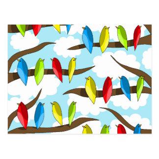Troupeau 2 de perroquets cartes postales