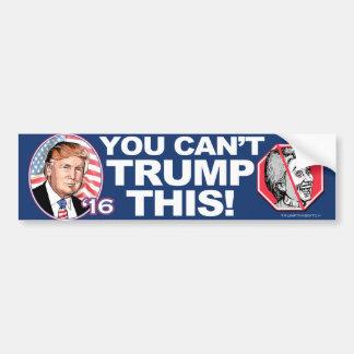 Trumpf 2016 dieser Anti-Hillary Clinton Autoaufkleber