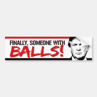 Trumpf 2016: Schließlich jemand mit Bällen Autoaufkleber