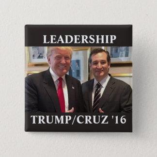 Trumpf/Cruz 2016 Quadratischer Button 5,1 Cm